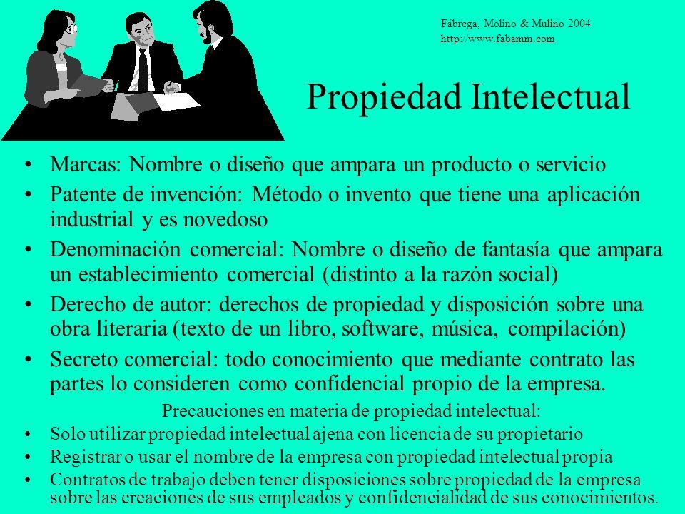 Propiedad Intelectual Marcas: Nombre o diseño que ampara un producto o servicio Patente de invención: Método o invento que tiene una aplicación indust