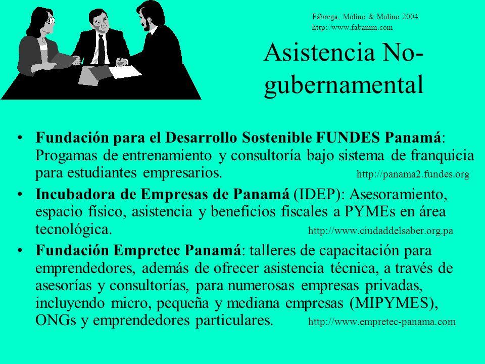 Asistencia No- gubernamental Fundación para el Desarrollo Sostenible FUNDES Panamá: Progamas de entrenamiento y consultoría bajo sistema de franquicia