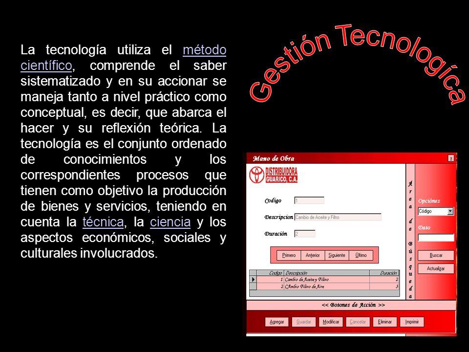 GESTIÓN TECNOLÓGICA.
