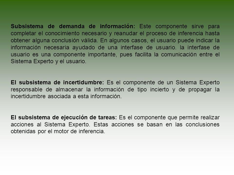 El subsistema de explicación: Es otro de los componentes de los Sistemas Expertos que requieren una interfase de usuario.