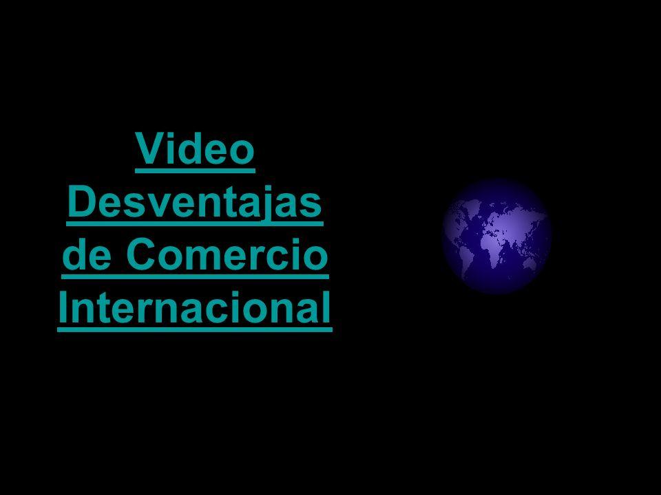 Video Desventajas de Comercio Internacional