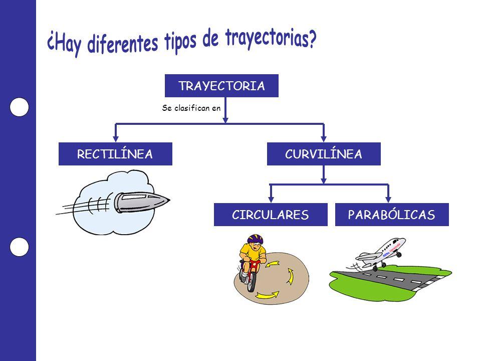 TRAYECTORIA RECTILÍNEACURVILÍNEA PARABÓLICASCIRCULARES Se clasifican en