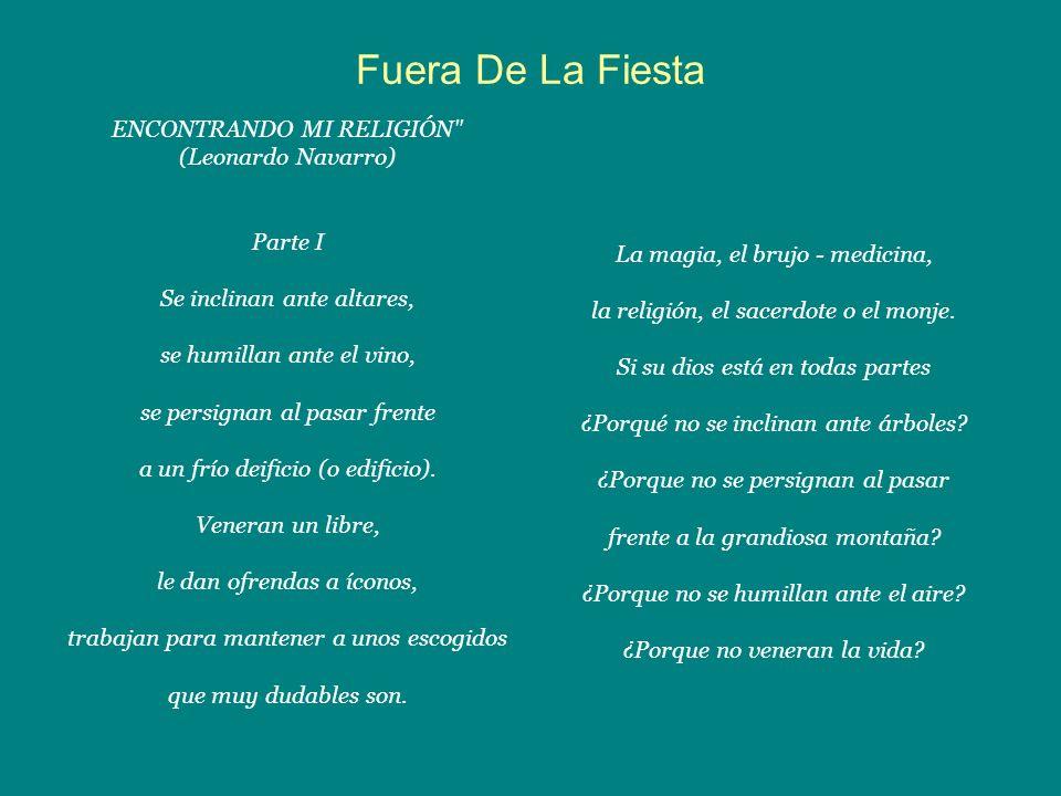 Fuera De La Fiesta ENCONTRANDO MI RELIGIÓN