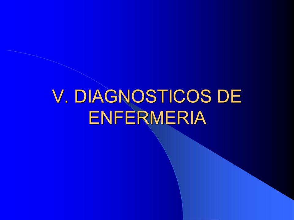 V. DIAGNOSTICOS DE ENFERMERIA