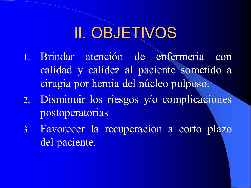 II.OBJETIVOS 1.