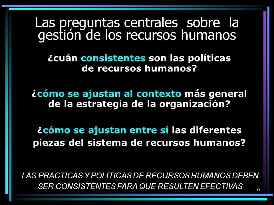 6 ¿cuán consistentes son las políticas de recursos humanos.
