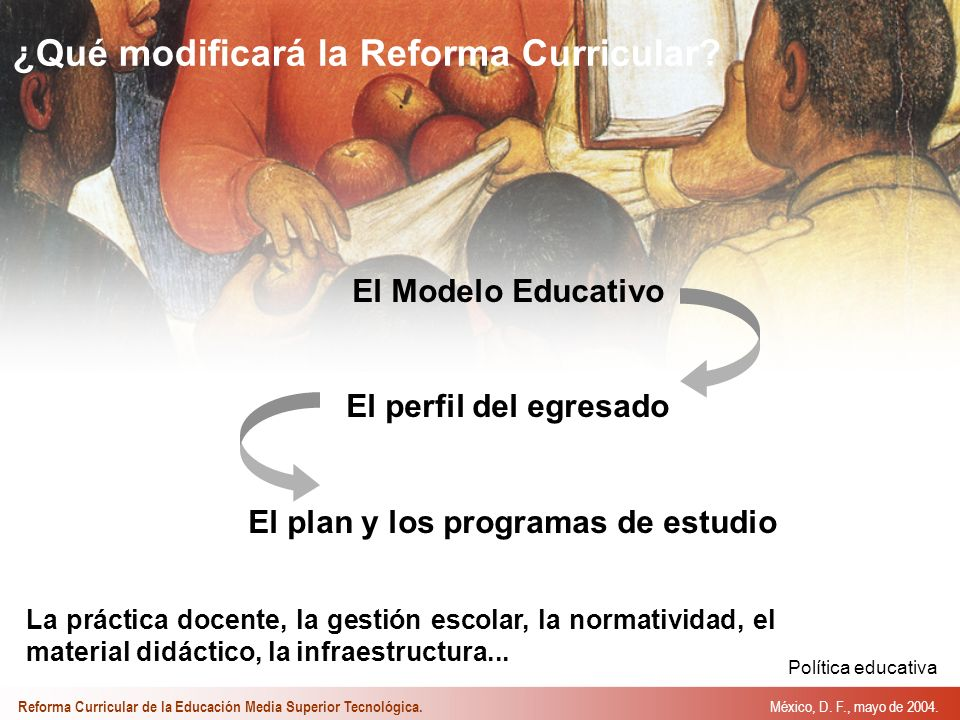 ¿Qué modificará la Reforma Curricular.