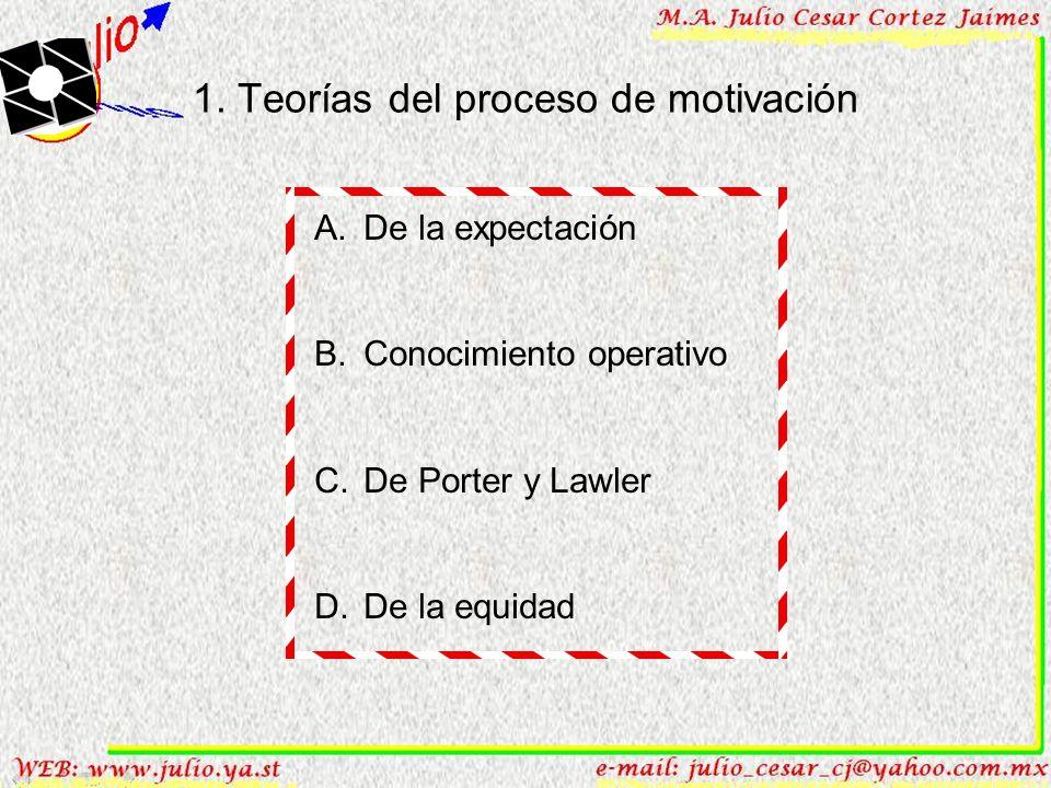1.Teorías del proceso de motivación A. De la expectación B.