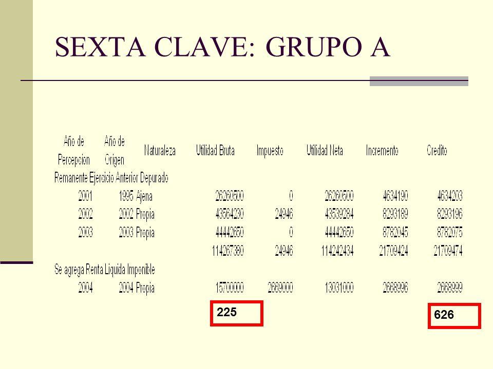 SEXTA CLAVE: GRUPO A 225 626