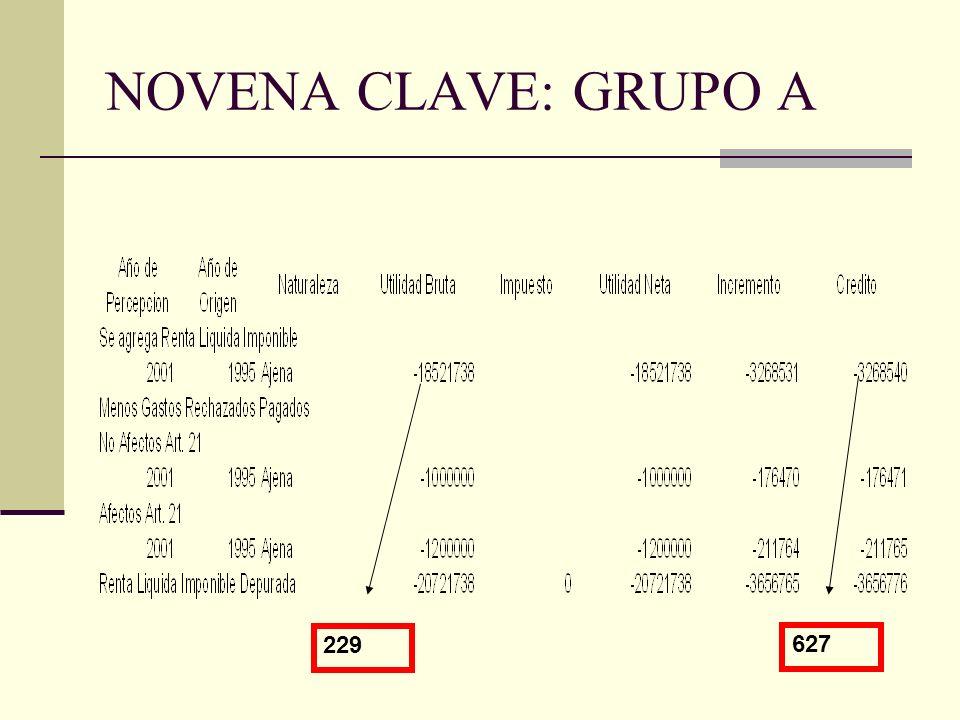 NOVENA CLAVE: GRUPO A 229 627