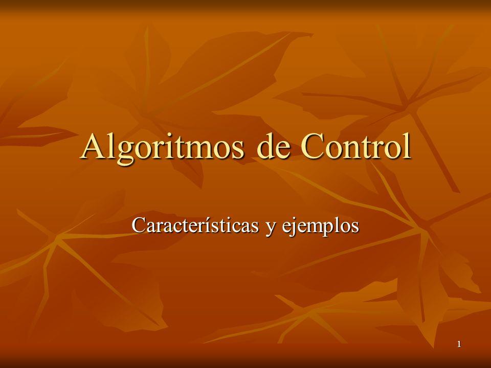 1 Algoritmos de Control Características y ejemplos