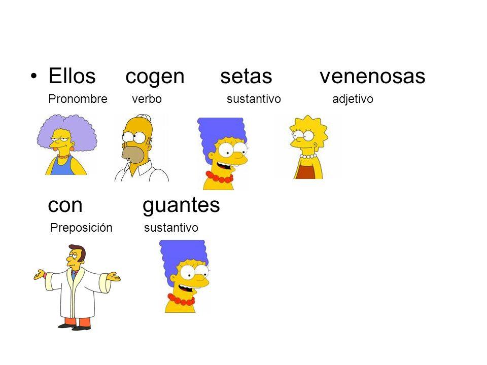 El hombre pelirrojo vive en Oviedo Articulo sustantivo adjetivo verbo preposición sustantivo