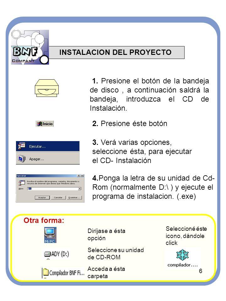 INSTALACION DEL PROYECTO 1.