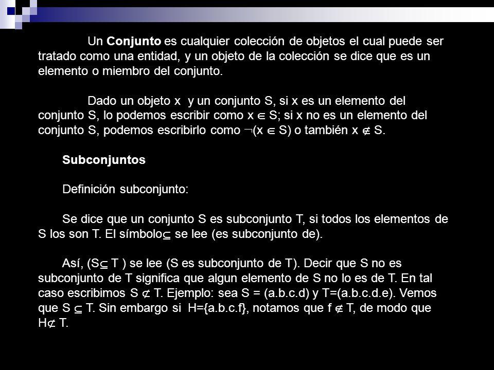 OPERACIÓN DE CONJUNTOS Unión: Dados dos conjuntos cualesquiera A y B llamamos Unión de A y B al conjunto formado por todos los elementos que pertenecen a A o a B.