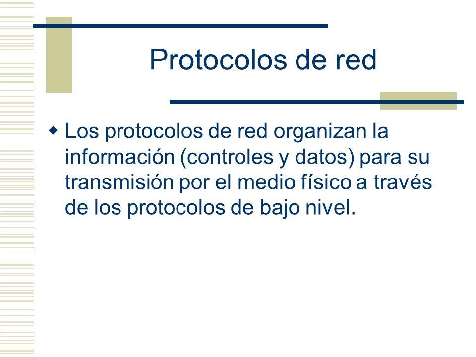 TCP/IP Es un conjunto de protocolos, que toma su nombre de los dos más conocidos: TCP (Transmission Control Protocol, protocolo de control de transmisión) e IP (Internet Protocol).