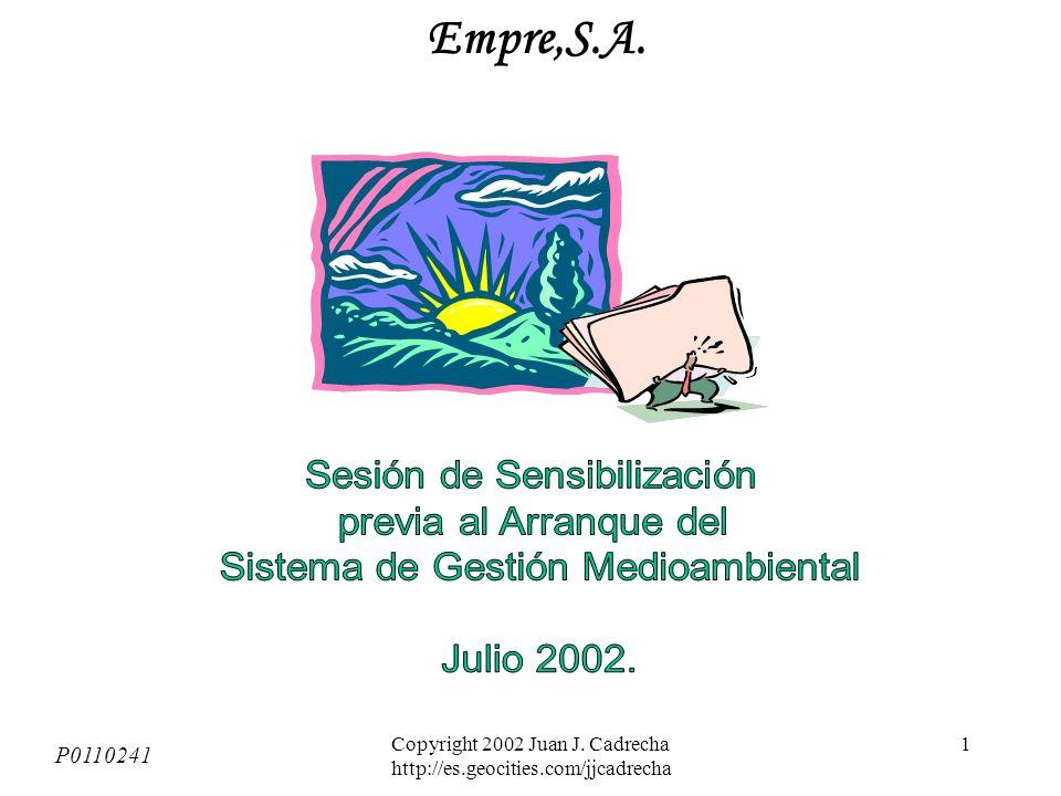 Copyright 2002 Juan J. Cadrecha http://es.geocities.com/jjcadrecha 1 Empre,S.A. P0110241
