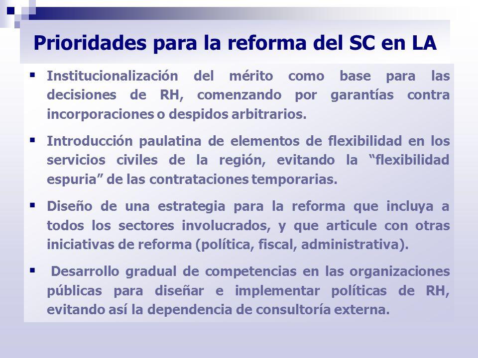 Institucionalización del mérito como base para las decisiones de RH, comenzando por garantías contra incorporaciones o despidos arbitrarios. Introducc