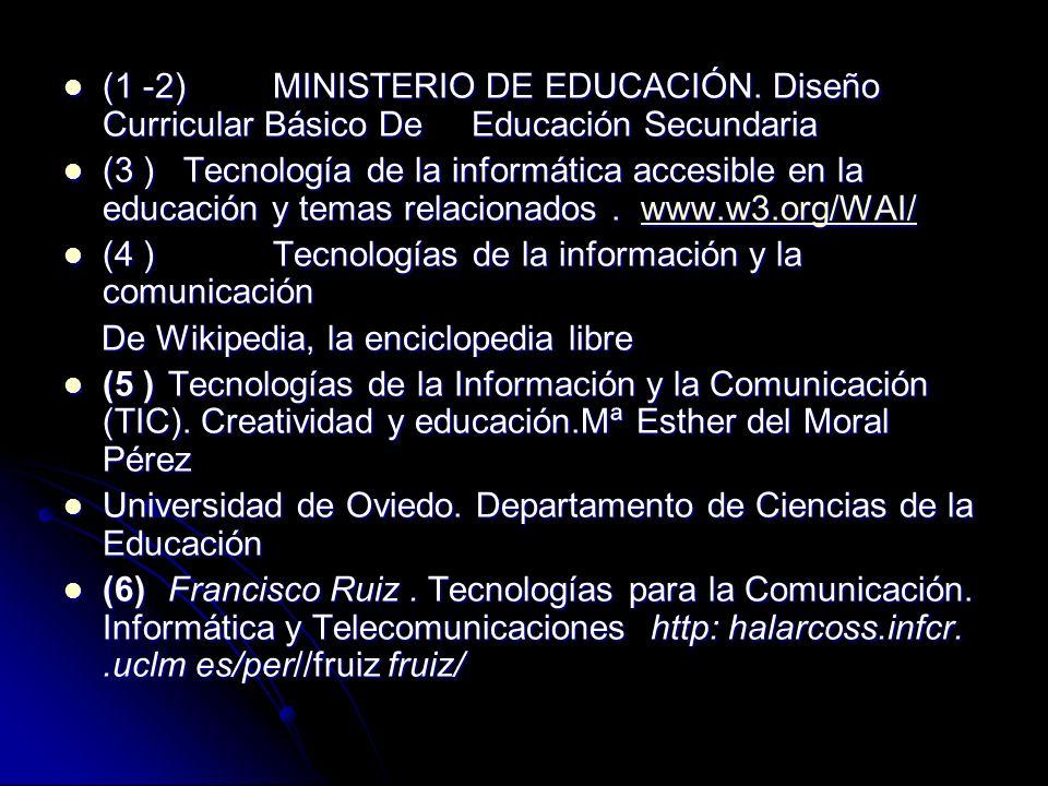 (1 -2) MINISTERIO DE EDUCACIÓN. Diseño Curricular Básico De Educación Secundaria (1 -2) MINISTERIO DE EDUCACIÓN. Diseño Curricular Básico De Educación