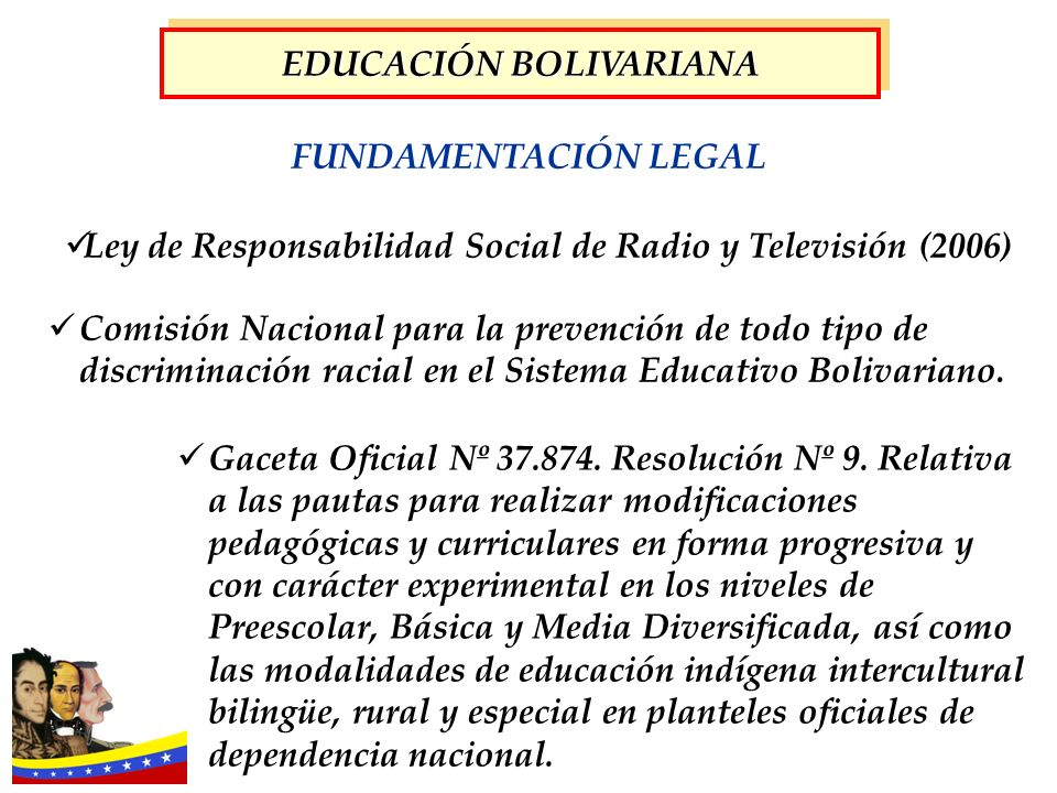 Gaceta Oficial Nº 37.874. Resolución Nº 9. Relativa a las pautas para realizar modificaciones pedagógicas y curriculares en forma progresiva y con car