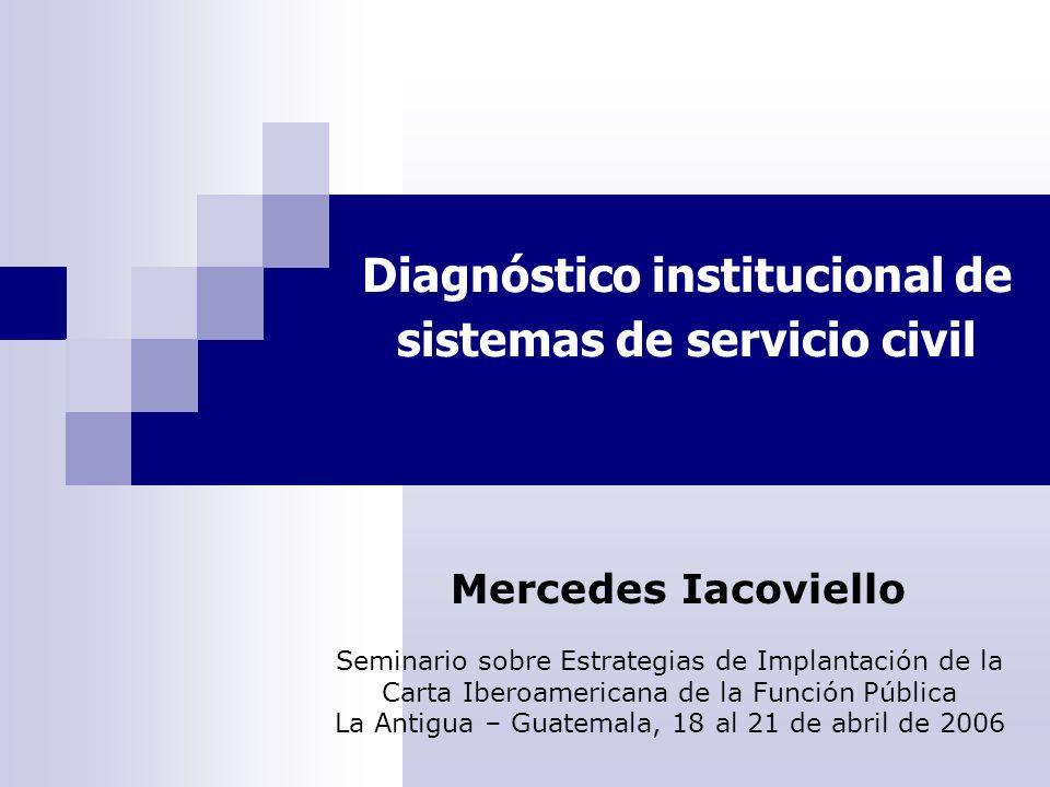 El objeto de análisis Servicio Civil Conjunto de arreglos institucionales mediante los que se articulan y gestionan, en una realidad nacional determinada, el empleo público y los recursos humanos que lo integran.