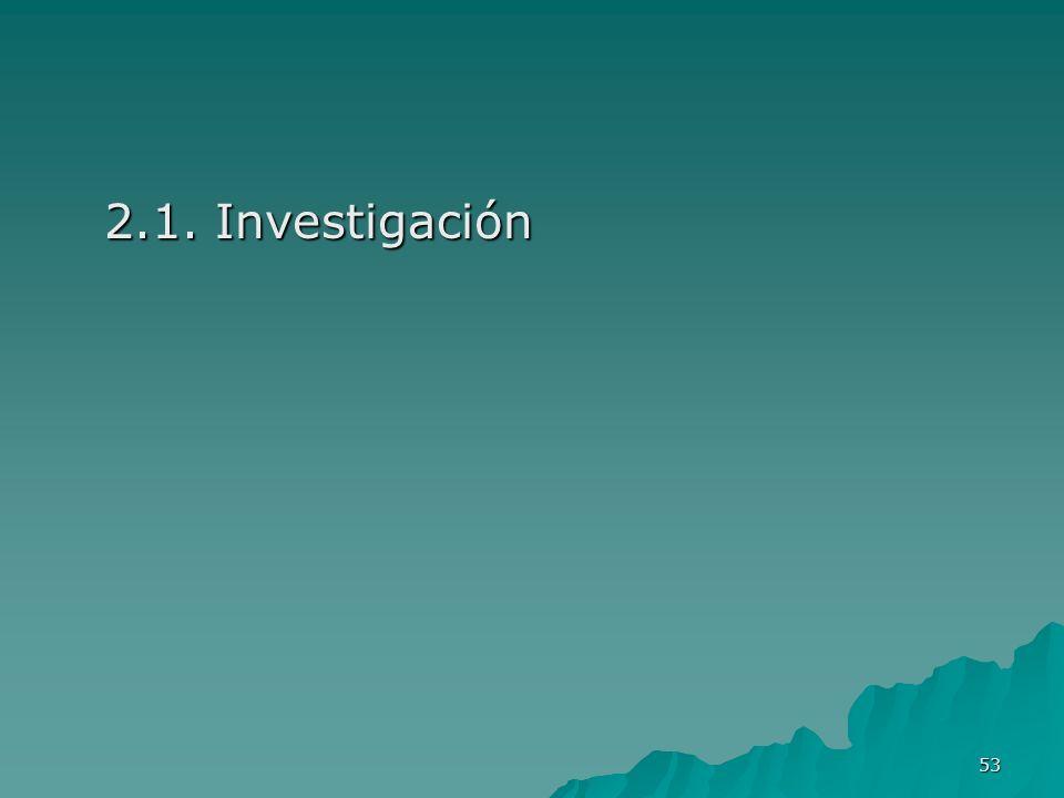 53 2.1. Investigación