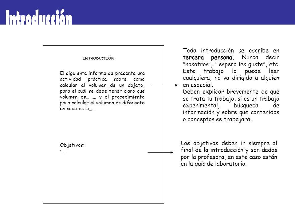 INTRODUCCIÓN El siguiente informe se presenta una actividad práctica sobre como calcular el volumen de un objeto, para el cuál se debe tener claro que
