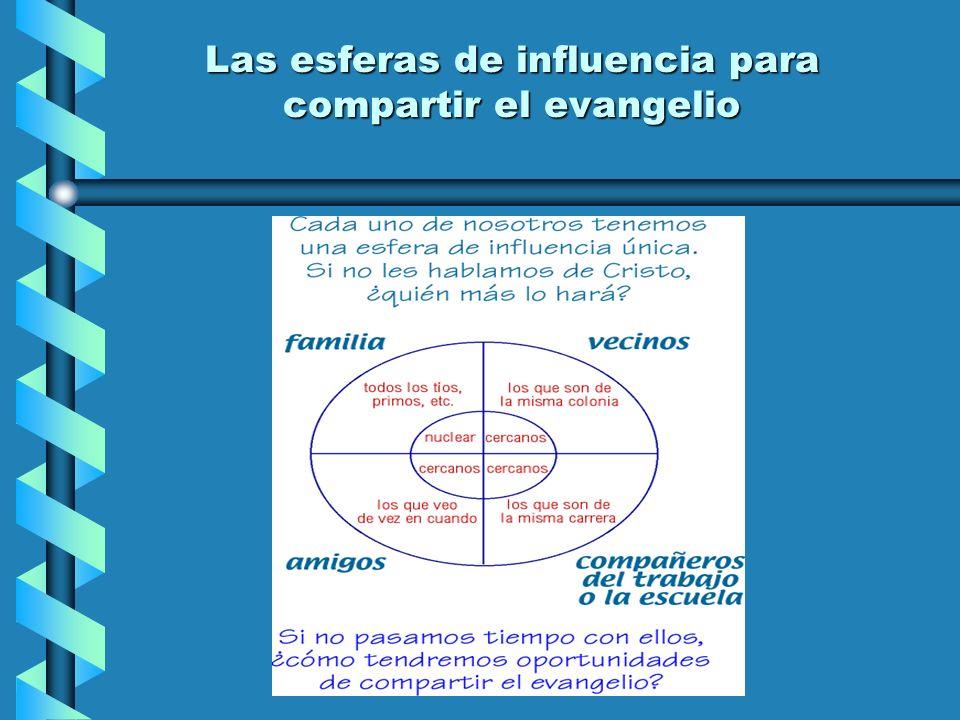 Las esferas de influencia para compartir el evangelio Las esferas de influencia para compartir el evangelio