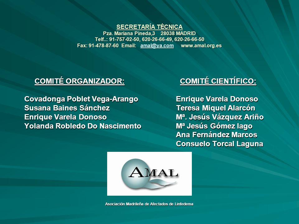 SECRETARÍA TÉCNICA Pza. Mariana Pineda,3 28038 MADRID Telf..: 91-757-02-50, 620-26-66-49, 620-26-66-50 Fax: 91-478-87-60 Email: amal@ya.com www.amal.o