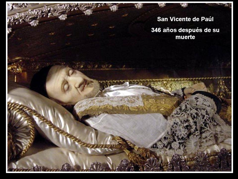 San Vicente de Paúl 346 años después de su muerte