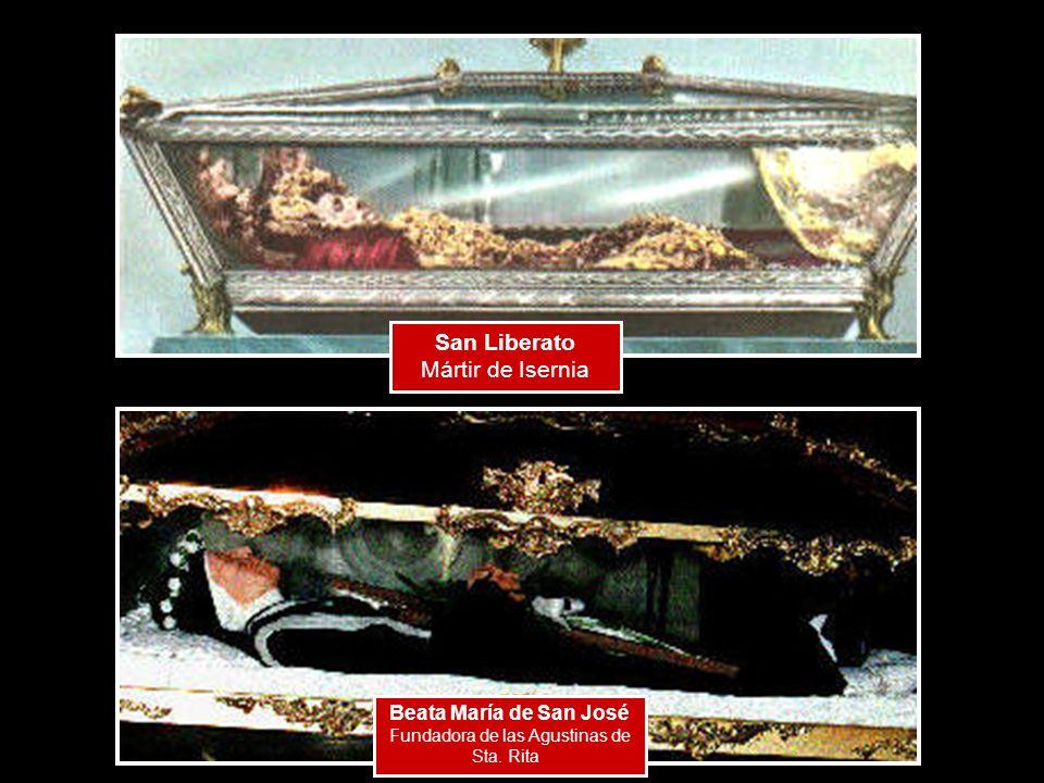 San Liberato Mártir de Isernia Beata María de San José Fundadora de las Agustinas de Sta. Rita