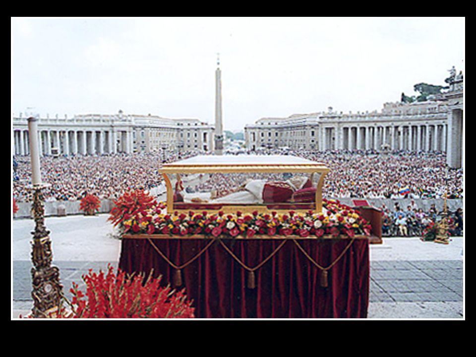 27 de marzo de 2001 después de 38 años de su fallecimiento.Ninguna parte de su cuerpo estaba descompuesta, declaró el Cardenal Virgilio Noe, Párroco Mayor de la Basílica de San Pedro.