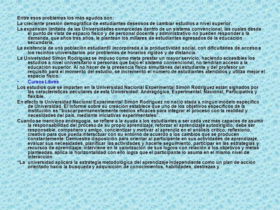 CONCLUSIONES Los resultados obtenidos luego de haber culminado el presente trabajo se puede decir que la universidad Experimental Simón Rodríguez (U.N.E.S.R.), ha comenzado a aprovechar plenamente las tecnologías de la comunicación de la información con fines educativos, con lo cual aspira hacer frente a los retos del siglo XXI y poder así mantenerse en el tiempo formando recursos humanos críticos y responsables, comprometidos con el desarrollo social, económico, político y cultural del país, abriendo oportunidades de estudios para satisfacer participantes del proceso de aprendizaje, siguiendo modalidades y creando convenios, tal es el caso con la Fundación de Institutos de Estudios Corporativos (F.I.E.C.).