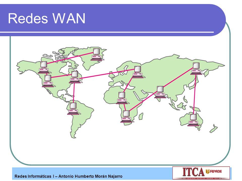 Redes Informáticas I – Antonio Humberto Morán Najarro Redes WAN