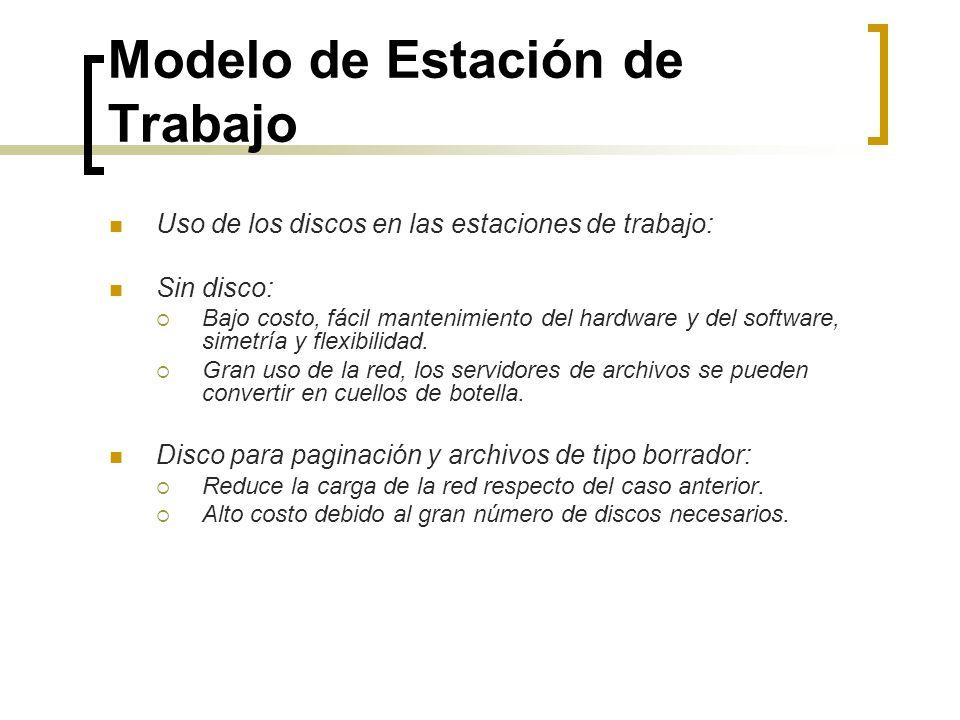 Modelo de Estación de Trabajo Uso de los discos en las estaciones de trabajo: Sin disco: Bajo costo, fácil mantenimiento del hardware y del software,