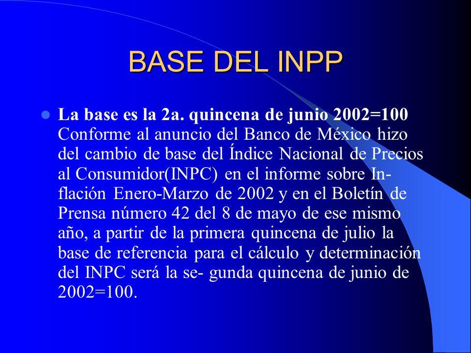 BASE DEL INPP La base es la 2a.