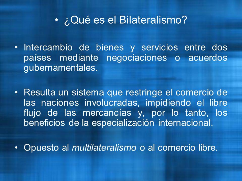 ¿Qué es el Bilateralismo.