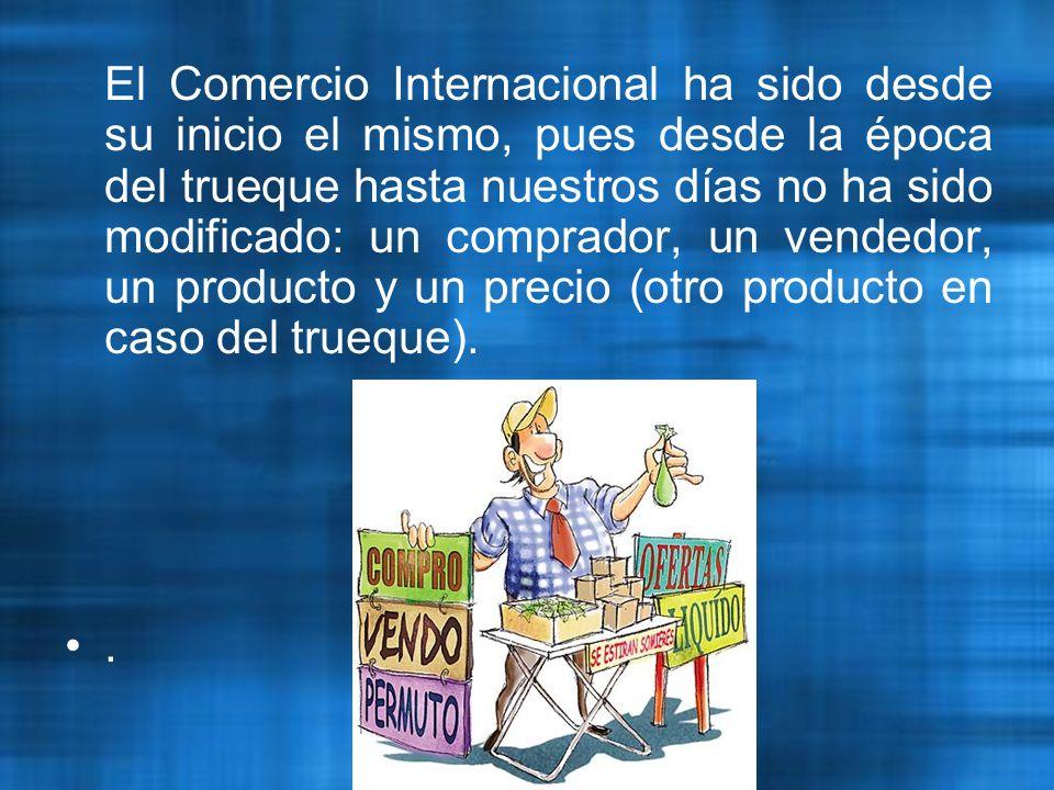 Por tanto: Se diferencia el comercio internacional de bienes, mercancías, visible o tangible y el comercio internacional de servicios invisible o intangible.