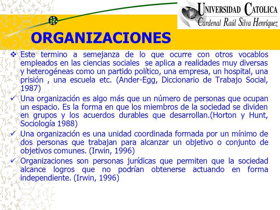 ORGANIZACIONES Para Bernard la organización es un sistema de actividades conscientemente coordinadas de dos o mas personas, la cooperación entre ellas es esencial para la existencia de la organización.