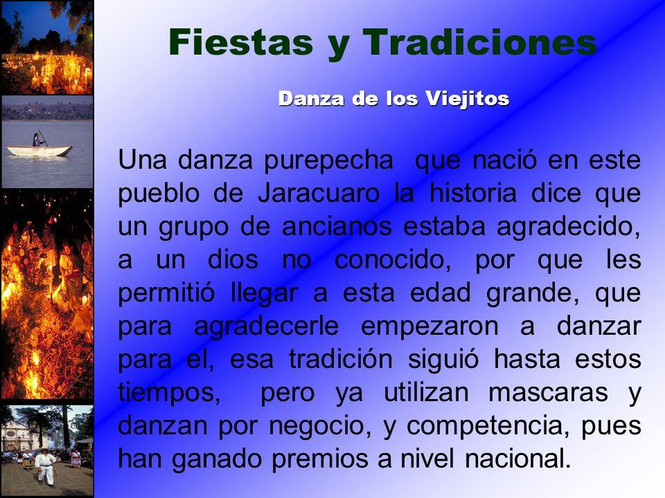 Una danza purepecha que nació en este pueblo de Jaracuaro la historia dice que un grupo de ancianos estaba agradecido, a un dios no conocido, por que