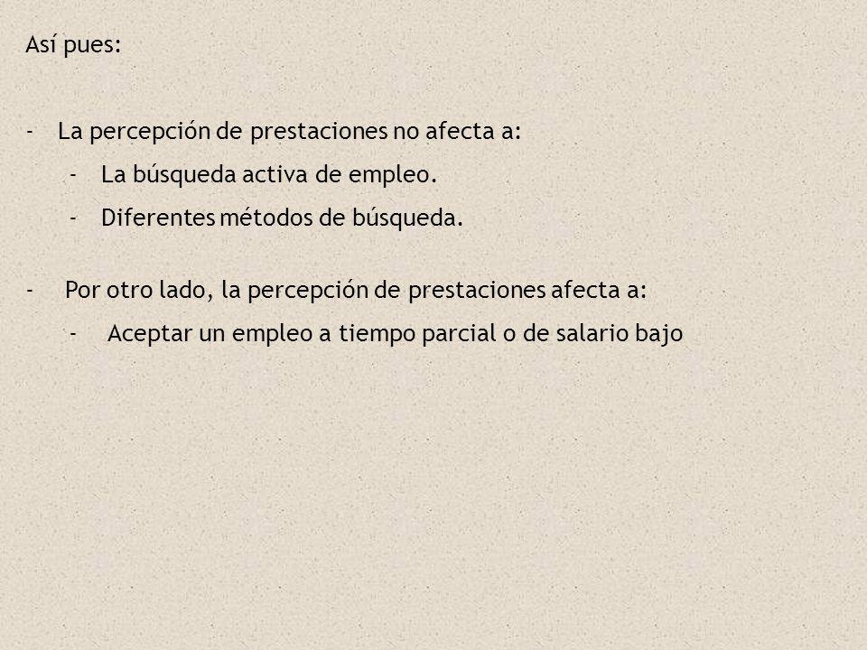 CONCLUSIONES PARA EL CASO ESPAÑOL: