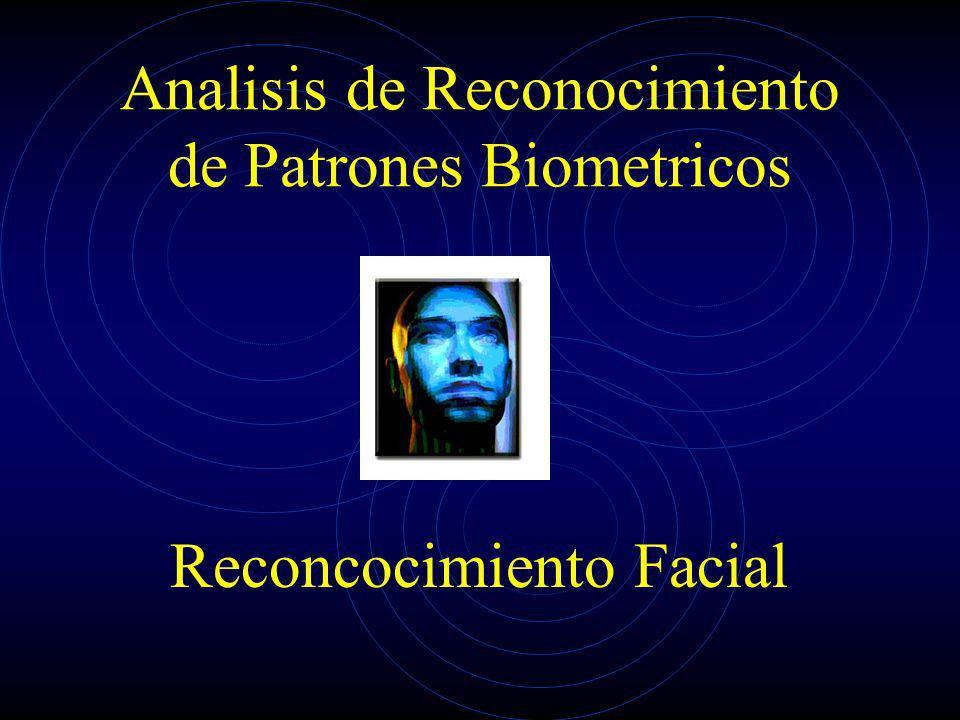 Analisis de Reconocimiento de Patrones Biometricos Reconcocimiento Facial