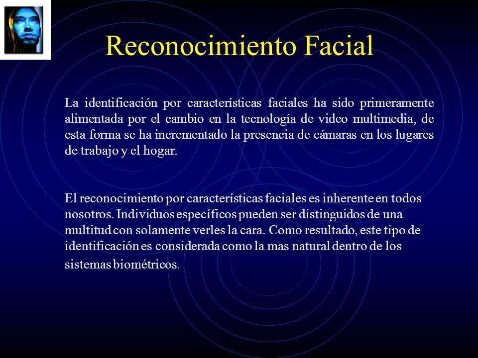 Reconocimiento Facial La identificación por características faciales ha sido primeramente alimentada por el cambio en la tecnología de video multimedi