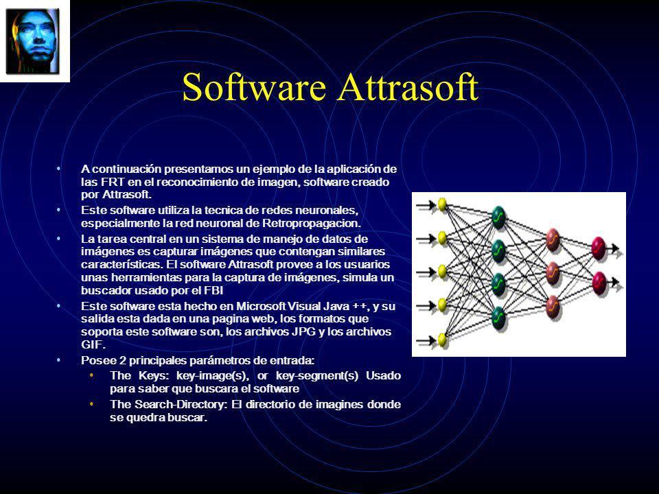 Software Attrasoft A continuación presentamos un ejemplo de la aplicación de las FRT en el reconocimiento de imagen, software creado por Attrasoft. Es