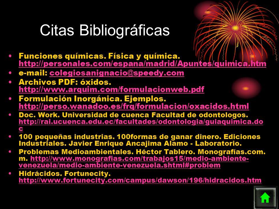 Funciones químicas. Física y química. http://personales.com/espana/madrid/Apuntes/quimica.htm http://personales.com/espana/madrid/Apuntes/quimica.htm