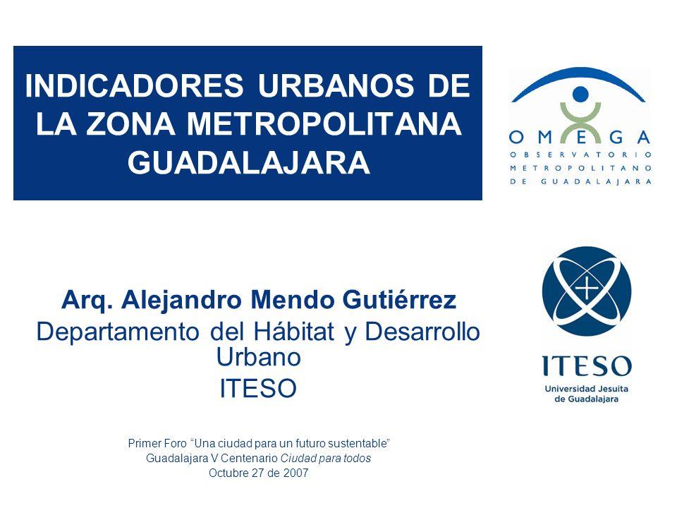 La observación de la ciudad Observatorio Metropolitano de Guadalajara: entidad interuniversitaria constituida en 2004 por tres instituciones de educación superior para el estudio científico, el trabajo académico y la investigación multidisciplinar del conurbado jalisciense.