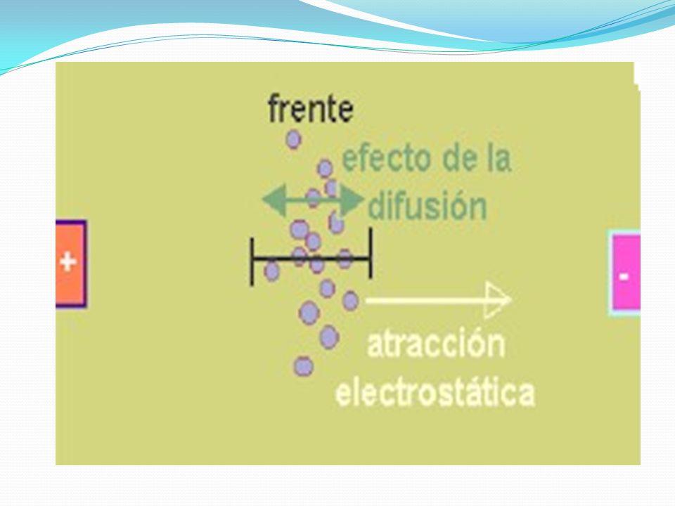 El movimiento de las moléculas esta gobernado también por dos fuerzas adicionales; inicialmente la fricción con el solvente dificultará este movimiento originando una fuerza que se opone, por otro lado las moléculas tienen que moverse en forma aleatoria o movimiento browniano debido a que poseen energía cinética propia denominado difusión.