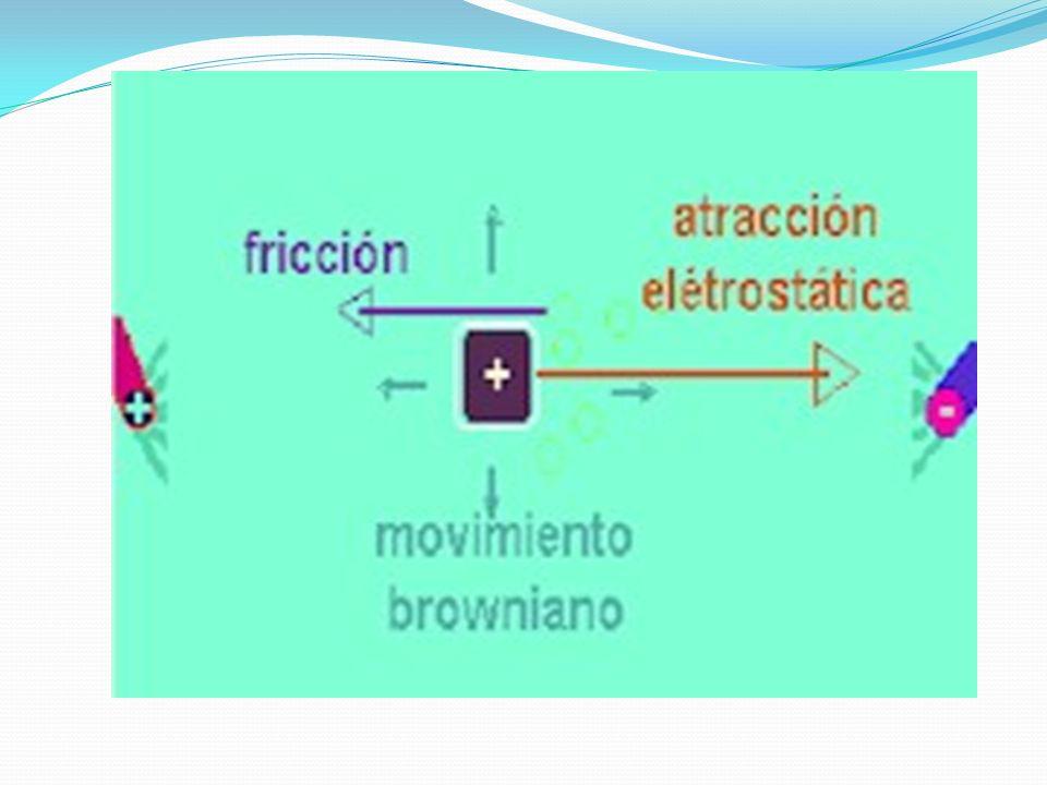 La suma de todas estas fuerzas provoca que las moléculas no migren de una manera homogénea, de tal manera que, si las moléculas son colocadas en un cierto lugar de solución, los iones comenzaran a moverse formando un frente cuya anchura aumentara con el tiempo.