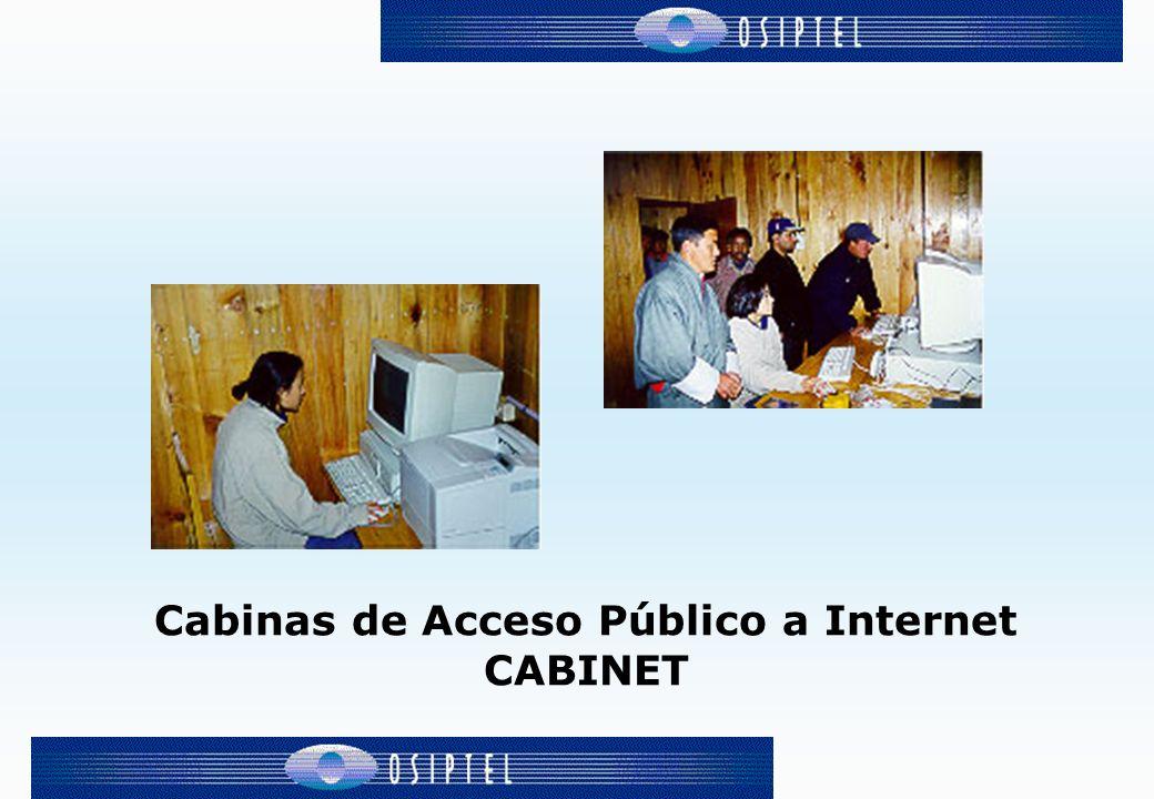 Cabinas de Acceso Público a Internet CABINET