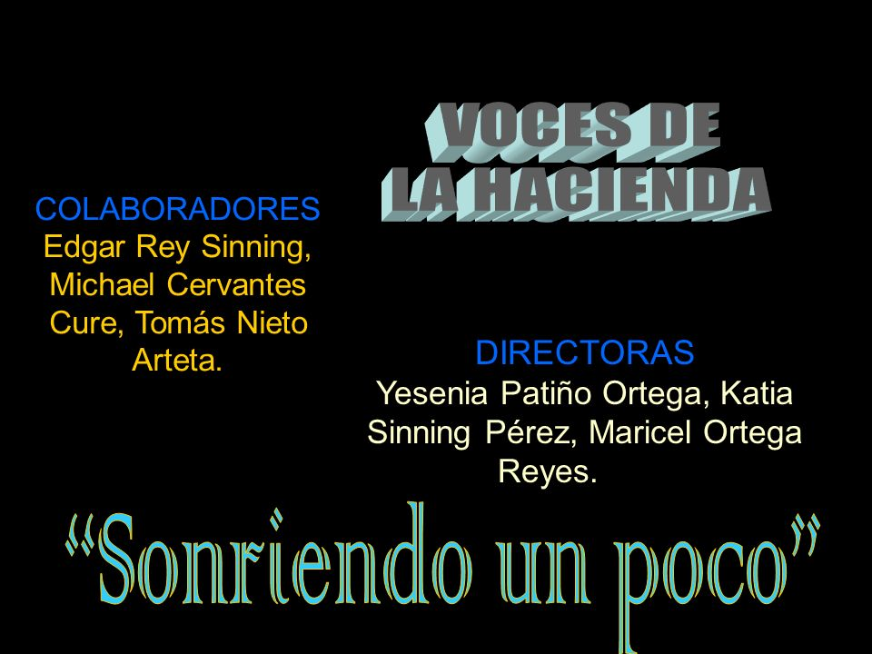 DIRECTORES Angela García Terán, Johnny Noguera Montenegro, Jairo Santamaría Betancourt, Víctor Tilano Osorio. COLABORADORES Álvaro Suescún, José Rafae