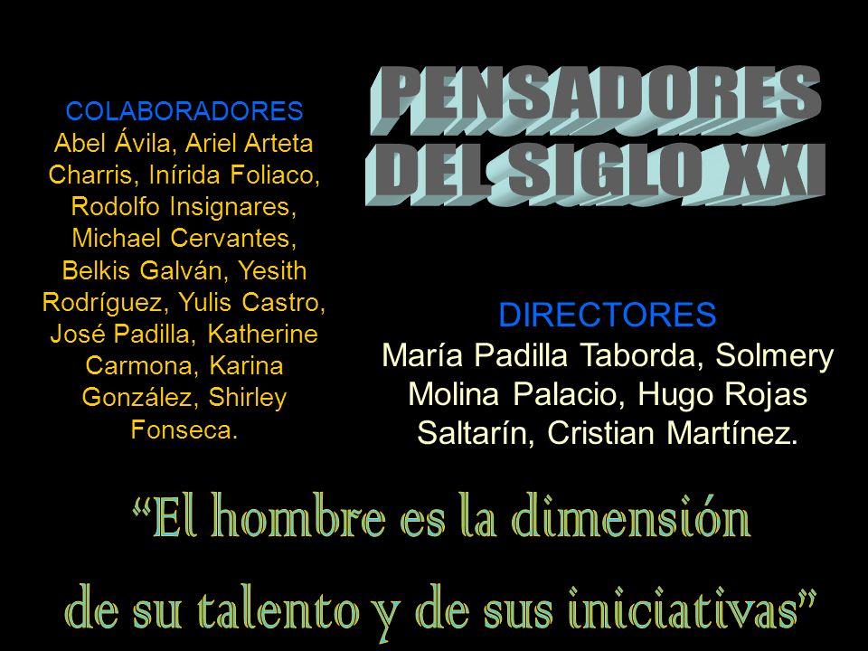 DIRECTORES María Padilla Taborda, Solmery Molina Palacio, Hugo Rojas Saltarín, Cristian Martínez.
